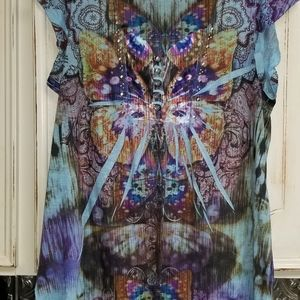 Live and let live  blouse XL like new